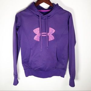 Under Armour Girl's Purple Pull Over Hoodie Small